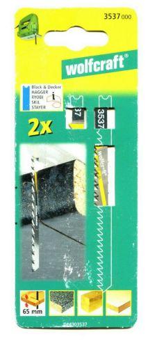 Wolfcraft 3 Stichsägeblätter T-Schaft / HCS / Set 2379000